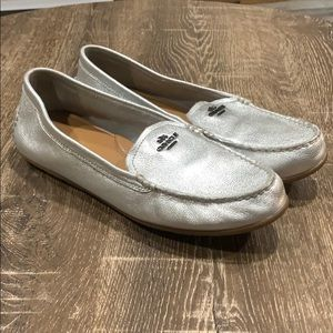 Coach Mary Lock Up silver leather driving …